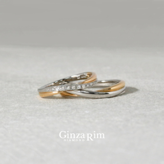 結婚指輪 プラチナ ピンクゴールド コンビネーション